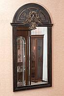 Код М-010.2. Зеркало в деревянной раме с резьбой , фото 1