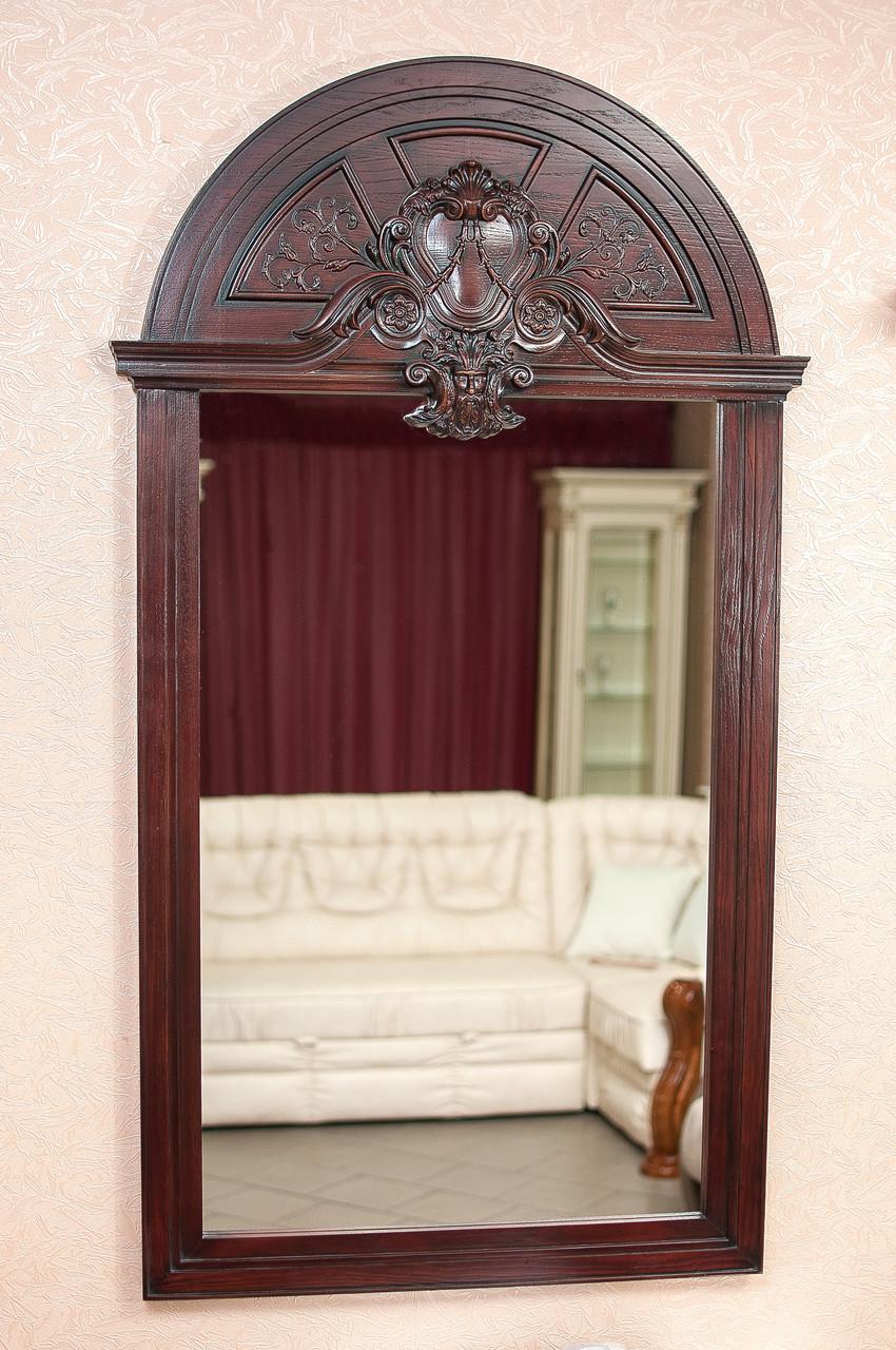 Код М-010.3. Зеркало в деревянной раме с резьбой