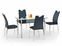 Стол обеденный стеклянный LESTER 120 черный Halmar
