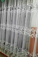 Тюль вышивка на микровуали Три полоски