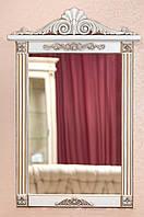 Код М-011.2. Зеркало в деревянной раме с резьбой