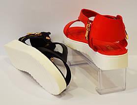 Босоножки женские красные Lorbacsa 2889, фото 3