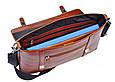 Мужской кожаный портфель ISSA HARA BH7 04-00 коричневый, фото 3