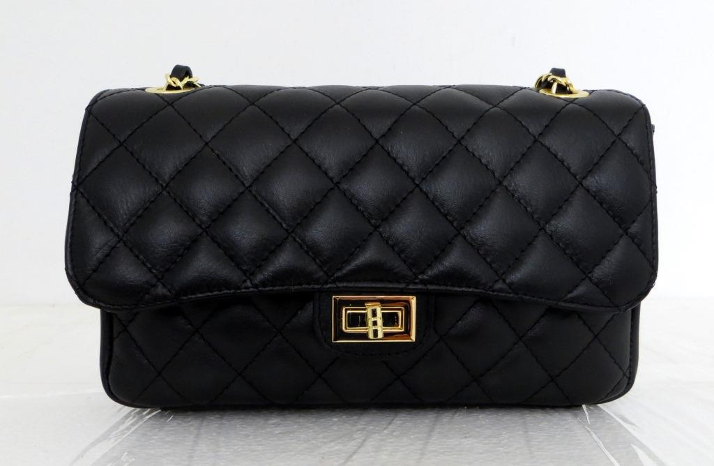 Брендовая женская сумка - клатч. 100% натуральная кожа! Италия Черная