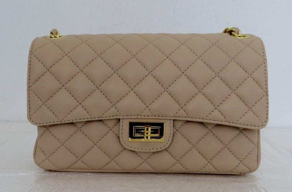 Брендовая женская сумка - клатч. 100% натуральная кожа! Италия Бежевая, фото 1
