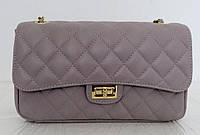 Брендовая женская сумка - клатч. 100% натуральная кожа! Италия Серая