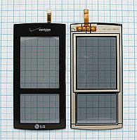 Тачскрин сенсорное стекло для LG KF600 black