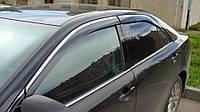 Дефлекторы окон (ветровики) Toyota Camry V50 2011- 4дв  Хром молдинг