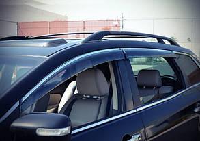 Дефлекторы окон (ветровики) Toyota Venza 2009 -> 5дв  Хром молдинг