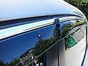 Дефлекторы окон (ветровики) VW Touareg 2010-> 4дв  Хром молдинг, фото 2