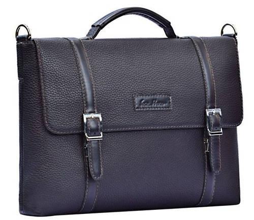 Классический мужской кожаный портфель ISSA HARA BH7 (11-01) черный