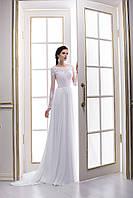 Удивительно нежное свадебное платье в греческом стиле с завораживающей спинкой