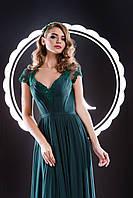 Совершенное вечернее платье с фантастическим прозрачным шлейфом