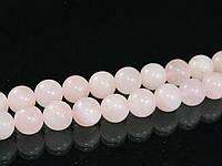 Бусы из розового кварца без замка, шар12мм
