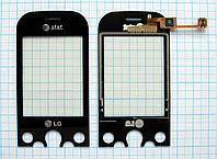 Тачскрин сенсорное стекло для LG KS360 black