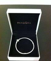 Браслет Pandora (Пандора) - серебряное украшение на руку (основа), серебро 925 в футляре 18