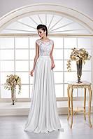 Невероятно утонченное свадебное платье в греческом стиле с открытой спинкой