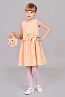 Летнее персиковое платье для девочки