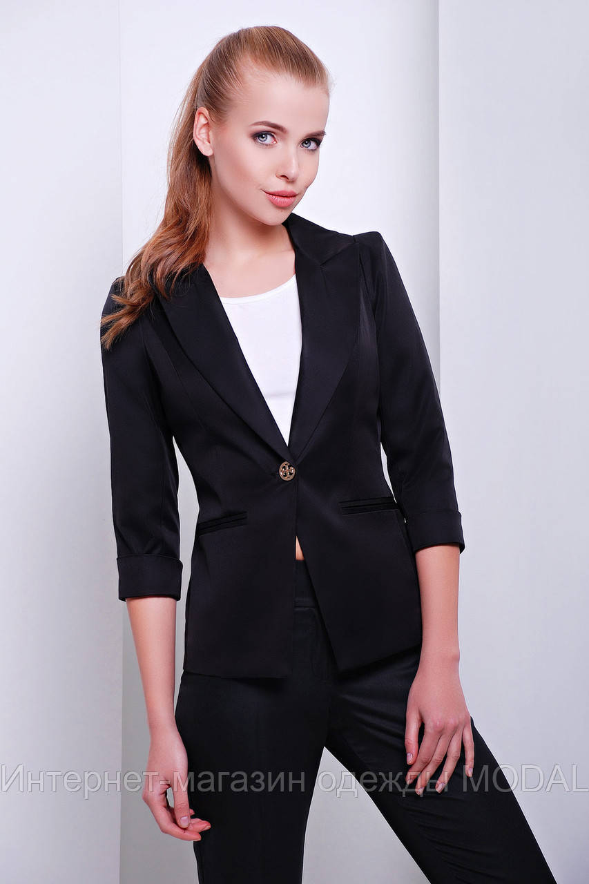фото женский черный пиджак