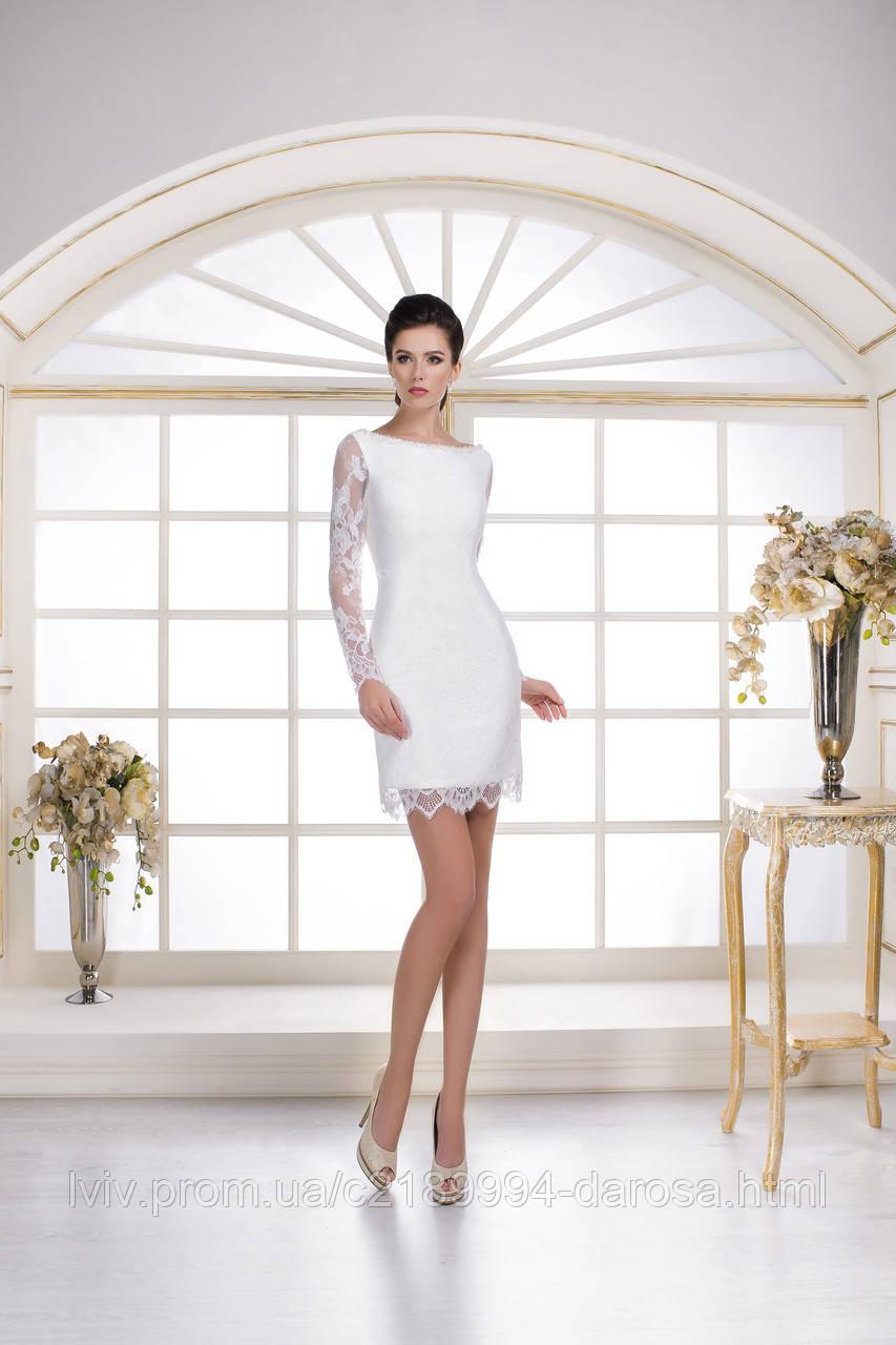 Свадебное платье современное короткое