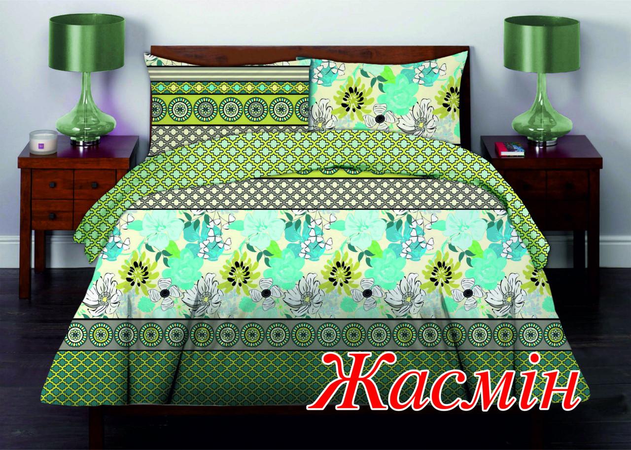 Комплект постельного белья двуспальный HomeLine Бязь 175х215 ЖАСМИН  нав 50х70