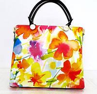 Летняя женская сумка 100% натуральная кожа. Желтый