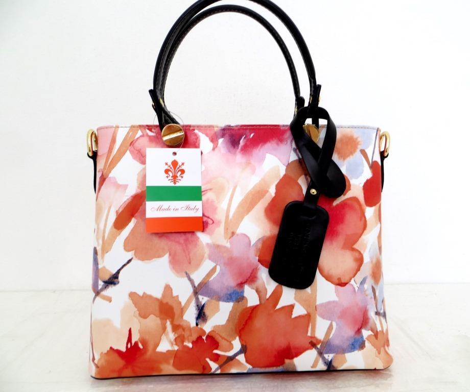 Летняя женская сумка 100% натуральная кожа. Розовый