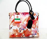 Летняя женская сумка 100% натуральная кожа. Розовый, фото 1