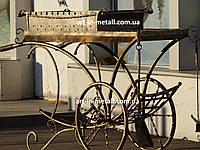 """Кованый мангал на колесах """"Париж"""", фото 1"""
