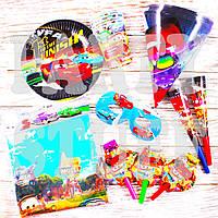 Детский набор на праздник Тачки, 37 предметов