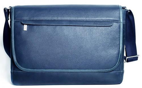 Выразительная кожаная сумка Месенджер через плечо ISSA HARA BM5 (13-33) синий
