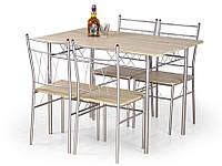 Стол обеденный деревянный FAUST дуб сонома Halmar + 4 стула Halmar