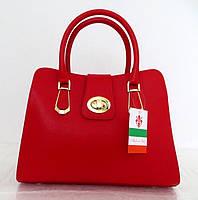 Женская сумка 100% натуральная кожа. Красный