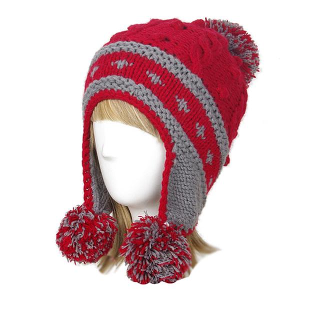 Купить женскую вязаную шапку-ушанку в интернет-магазине ...