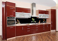 Стеклянная кухонная панель