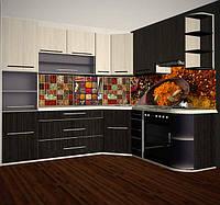 Кухонная панель стеклянная