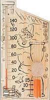 Термометр для сауны и бани с песочными часами «Банная станция»