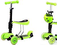 Самокат   scooter mini 3В1 Божья коровка