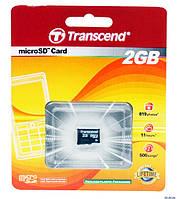 Карта памяти microSD Transcend 2Gb