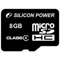 Карта памяти Silicon power Micro SDHC 8Gb class 4