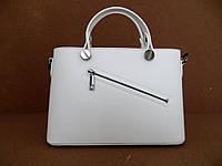 Удобная женская сумка 100% натуральная кожа. Белая