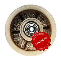 Алмазная фреза для резки фигурной фаски на камне габбро и мраморе R20 №00 выпуклая без воды на болгарку резьба