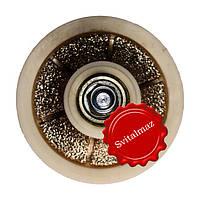 Алмазная фреза для резки фигурной фаски на камне габбро и мраморе четверть круга R20 №00 без воды на болгарку