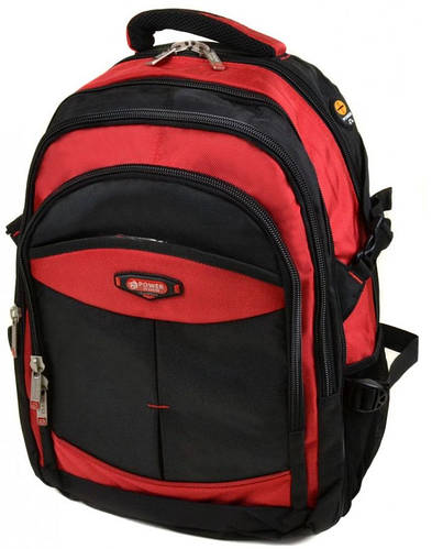Удобный городской рюкзак из нейлона 42 л. Power In Eavas 9718 red, красный