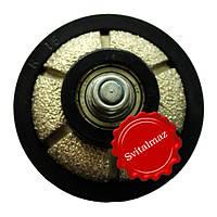 Алмазная фреза для резки фигурной фаски на камне габбро и мраморе R15 №00 выпуклая без воды на болгарку резьба