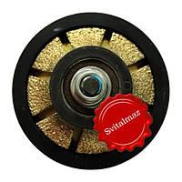 Алмазная фреза для резки фигурной фаски на камне габбро и мраморе четверть круга R15 №00 без воды на болгарку