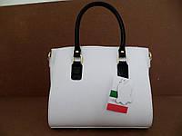 Женская сумка 100% натуральная кожа. Белый, фото 1