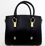 Женская сумка 100% натуральная кожа. Черный, фото 1