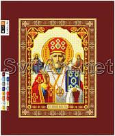 Схемы для вышивки бисером на холсте Икона Св. Николая