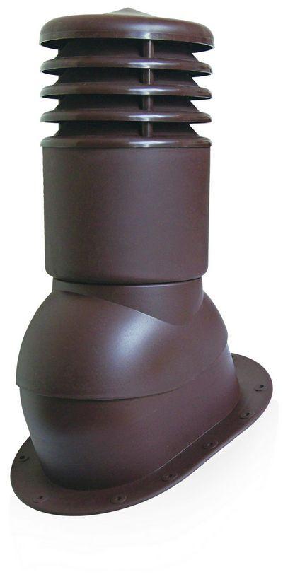 Вентвыход150мм с колпаком утепленный Kronoplast KPIO для битумной черепицы и плоской кровли Терракота - Оксамит Винница в Виннице